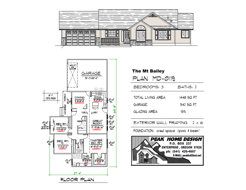 The Mt Bailey Oregon House Plan MD0119
