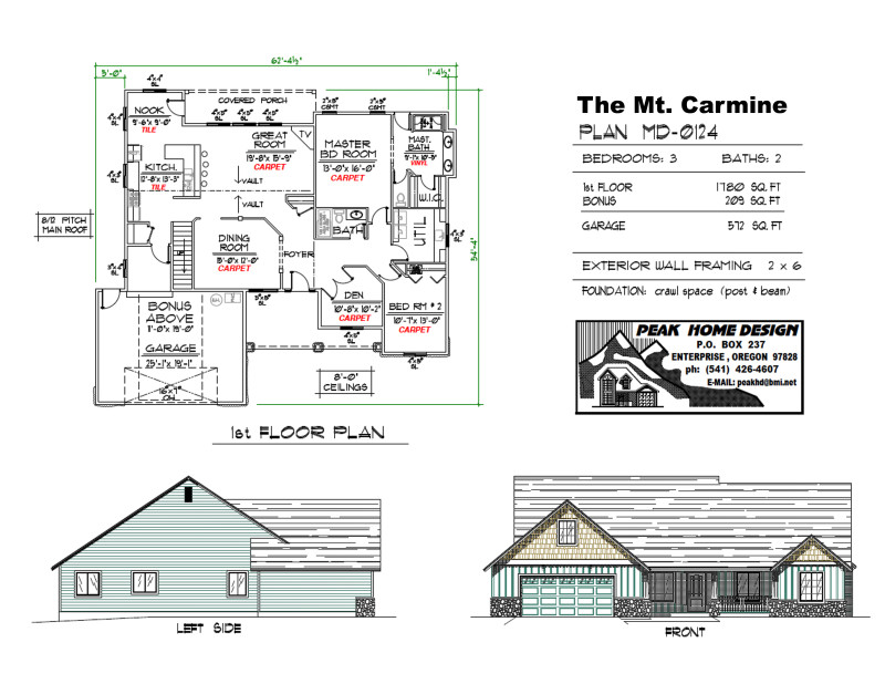 The Carmine Oregon Home Plan MD0124