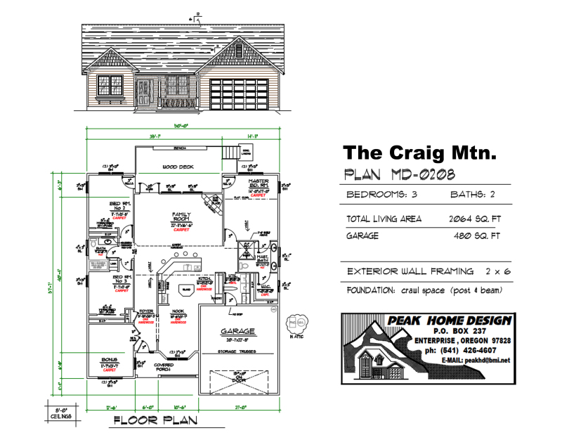 THE CRAIG MTN OREGON HOUSE DESIGN MD0208