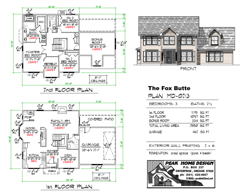 The Fox Butte Oregon House Plan MD0213