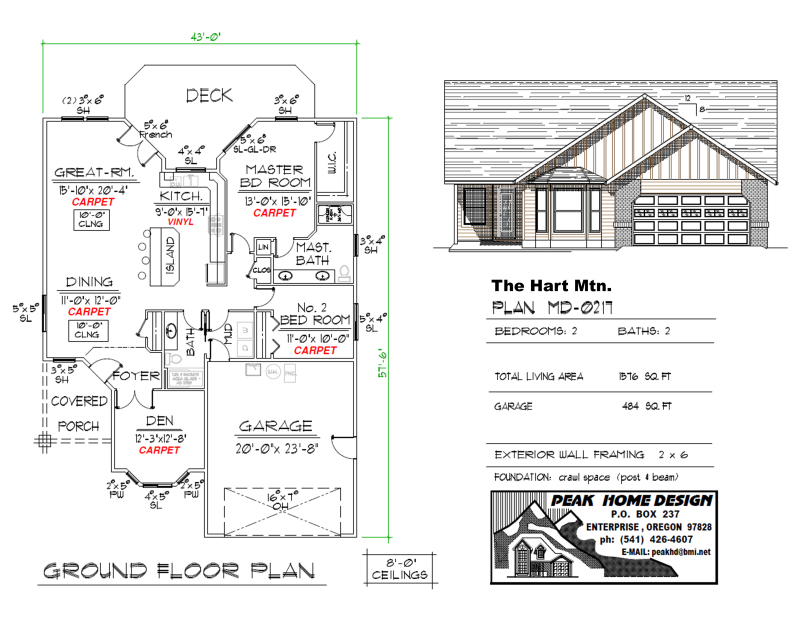 The Hart Mtn Oregon House Plan MD0217