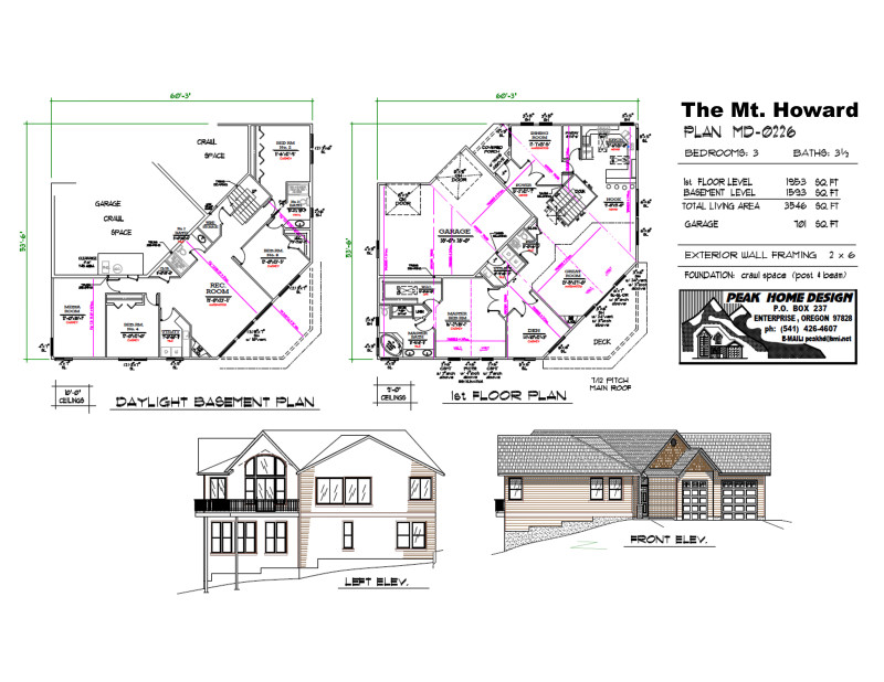 The Mt Howard Oregon Home Plan MD 0226