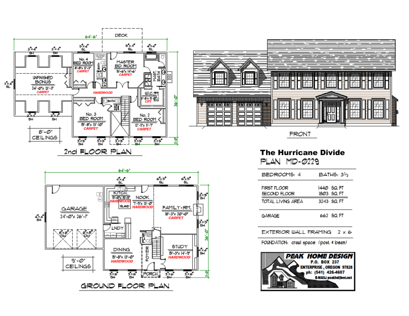 THE HURRICANE DIVIDE OREGON HOME PLAN MD0229