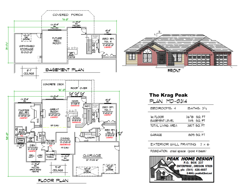 THE KRAG PEAK OREGON HOUSE DESIGN MD0314