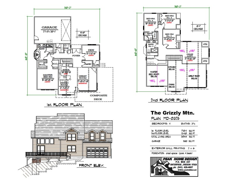 The Grizzly Mtn Oregon Home Plan MD 0325