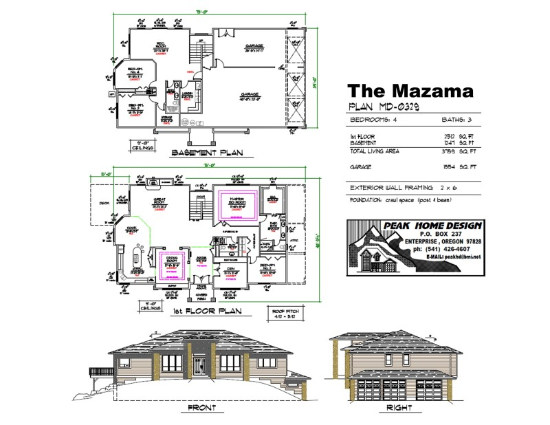 Th Mazama Oregon Home Plan MD 0329
