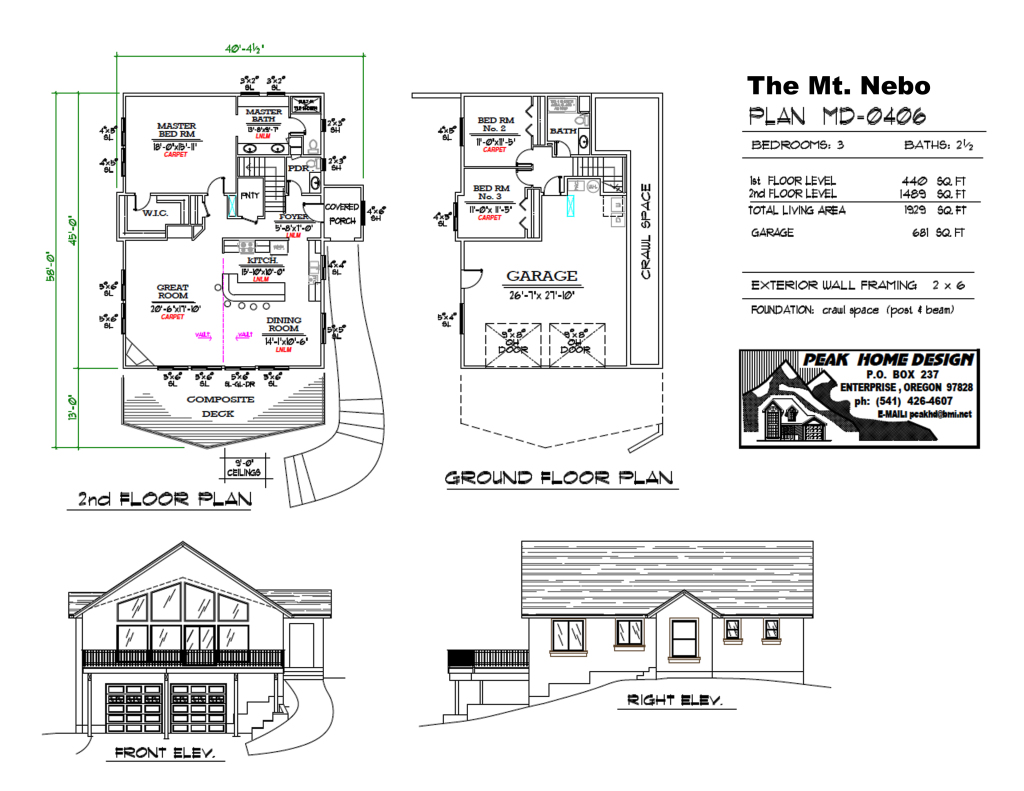 THE MT NEBO HOUSE PLAN #MD0406