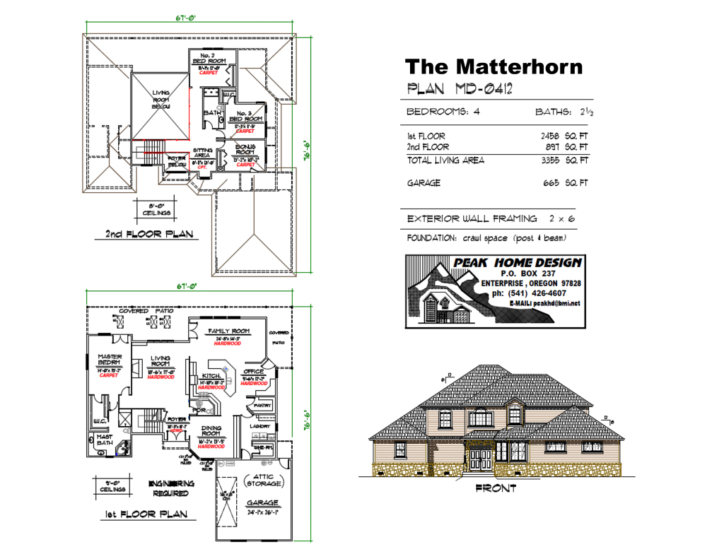 THE MATTERHORN OREGON HOUSE DESIGN #MD0412