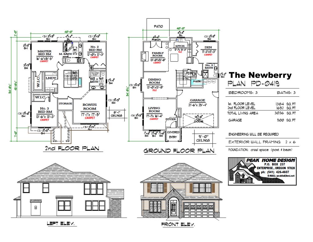 THE NEWBERRY OREGON HOUSE DESIGN #MD0419