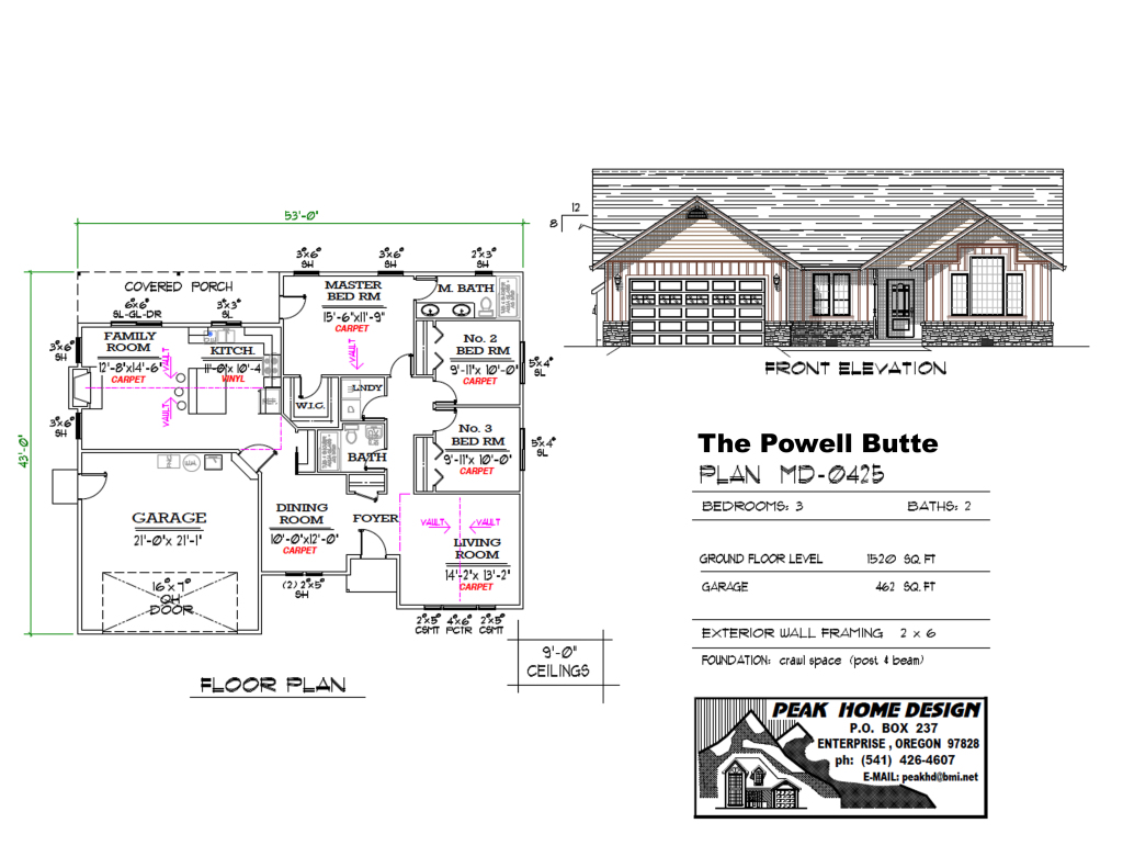 THE POWELL BUTTE OREGON HOUSE DESIGN #MD0425