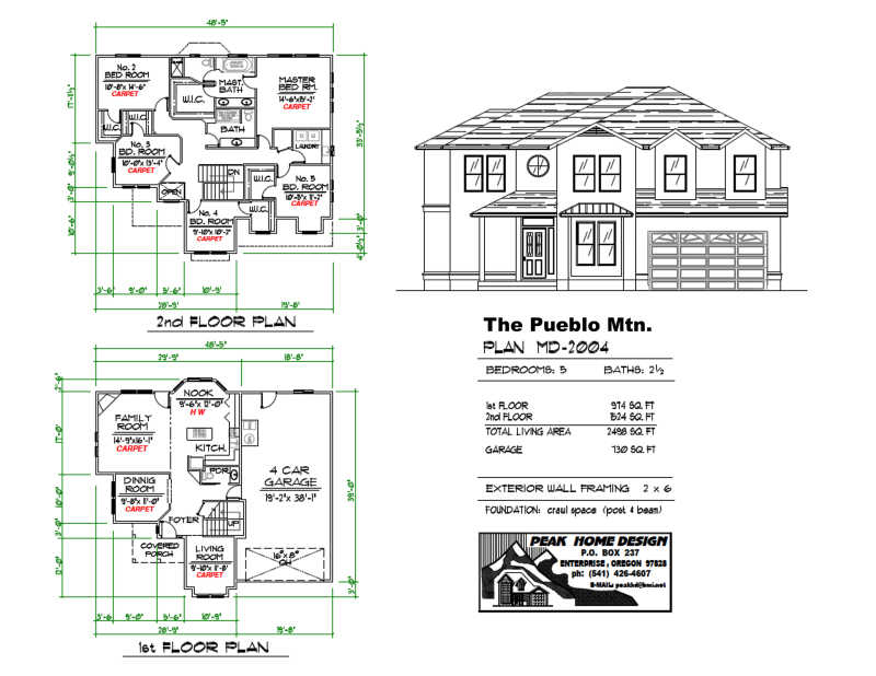 THE PUEBLO MTN OREGON HOUSE PLAN #MD2004