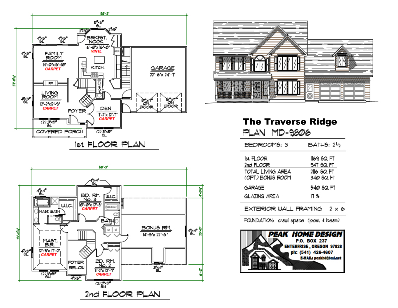 THE TRAVERSE RIDGE OREGON HOUSE DESIGN #MD9806