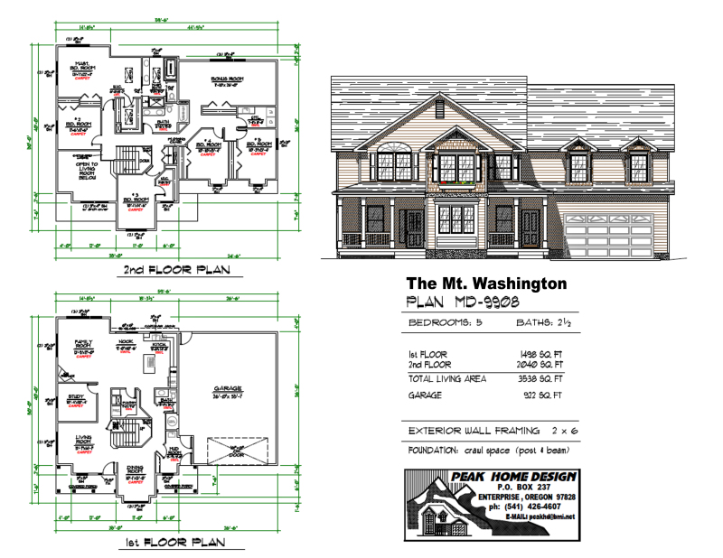 THE MT WASHINGTON OREGON HOUSE DESIGN #MD9908