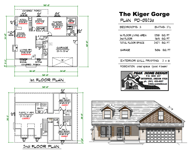 THE KIGER GORGE OREGON HOUSE DESIGN PD0523a