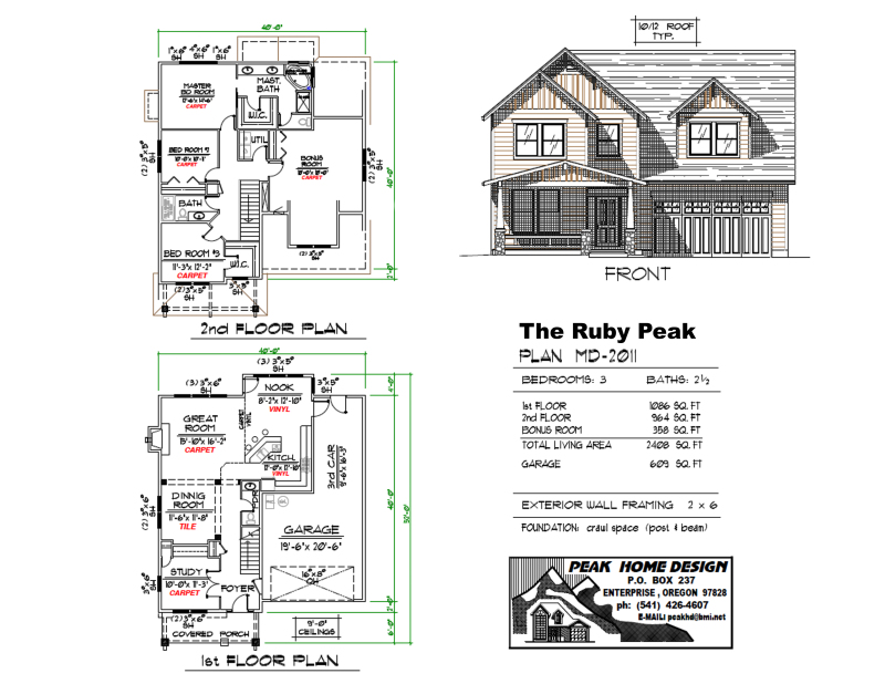 THE RUBY PEAK HOME DESIGN MD2011
