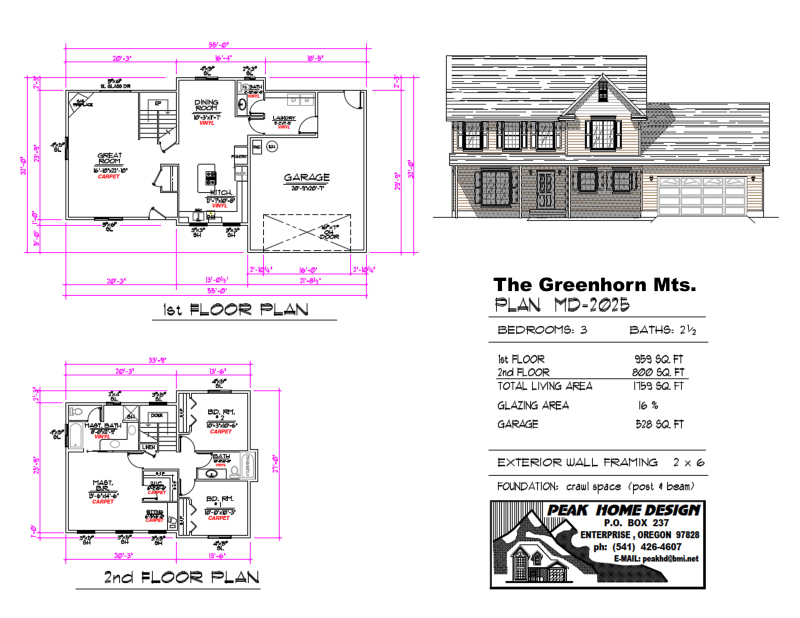 THE GREENHOUSE MTNS HOME DESIGN MD2025