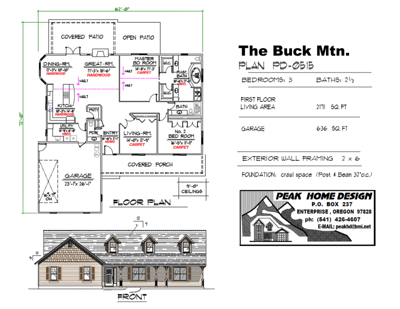 THE BUCK MT OREGON HOUSE DESIGN PD0515
