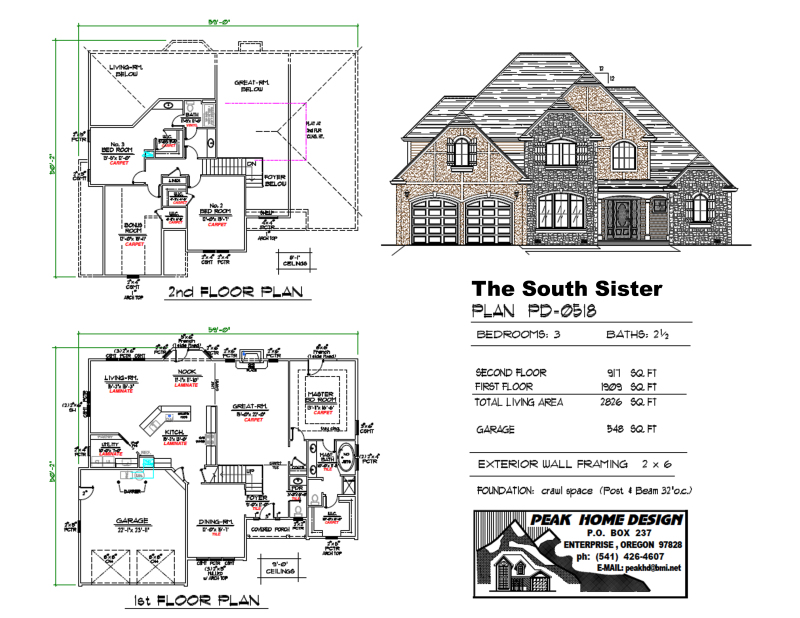 THE SOUTH SISTER HOME DESIGN PD0518