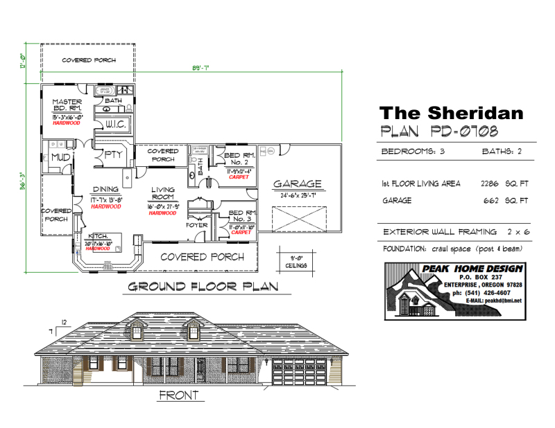 THE SHERIDAN OREGON HOUSE DESIGN PD0708