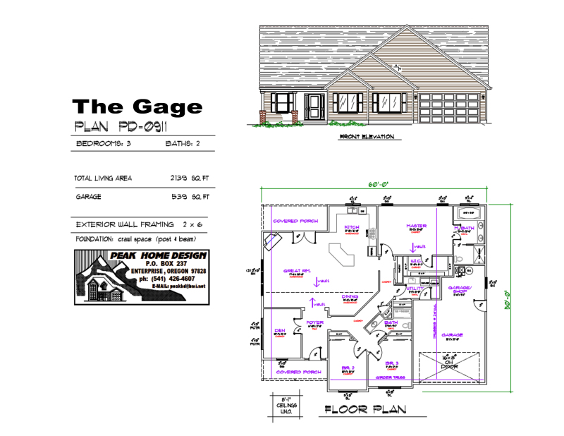 THE GAGE OREGON HOUSE DESIGN PD0911