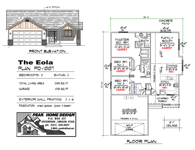 THE EOLA OREGON HOUSE DESIGN PD1007