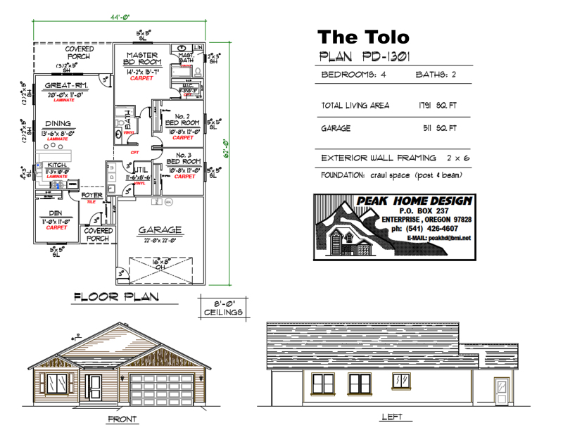 The Tolo Oregon House Design PD1301