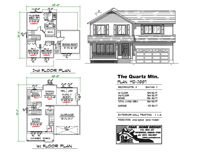 THE QUARTZ MT OREGON HOME PLAN MD2007