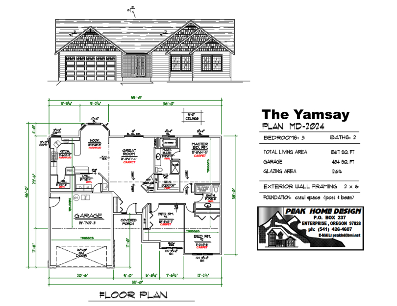 THE YAMSAY OREGON HOUSE DESIGN MD2024
