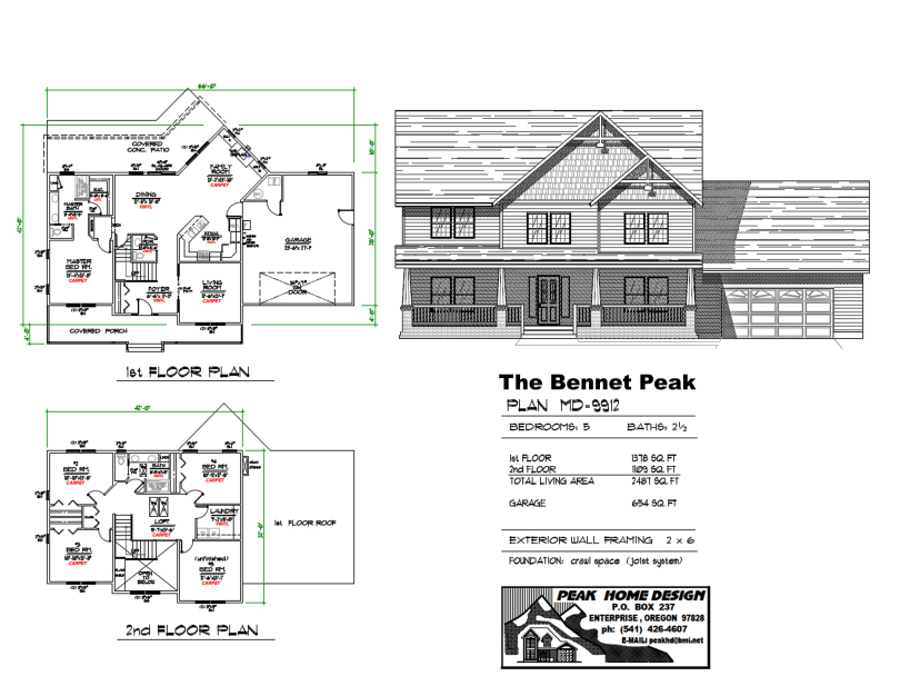 The Bennet Peak Oregon House Design MD9912