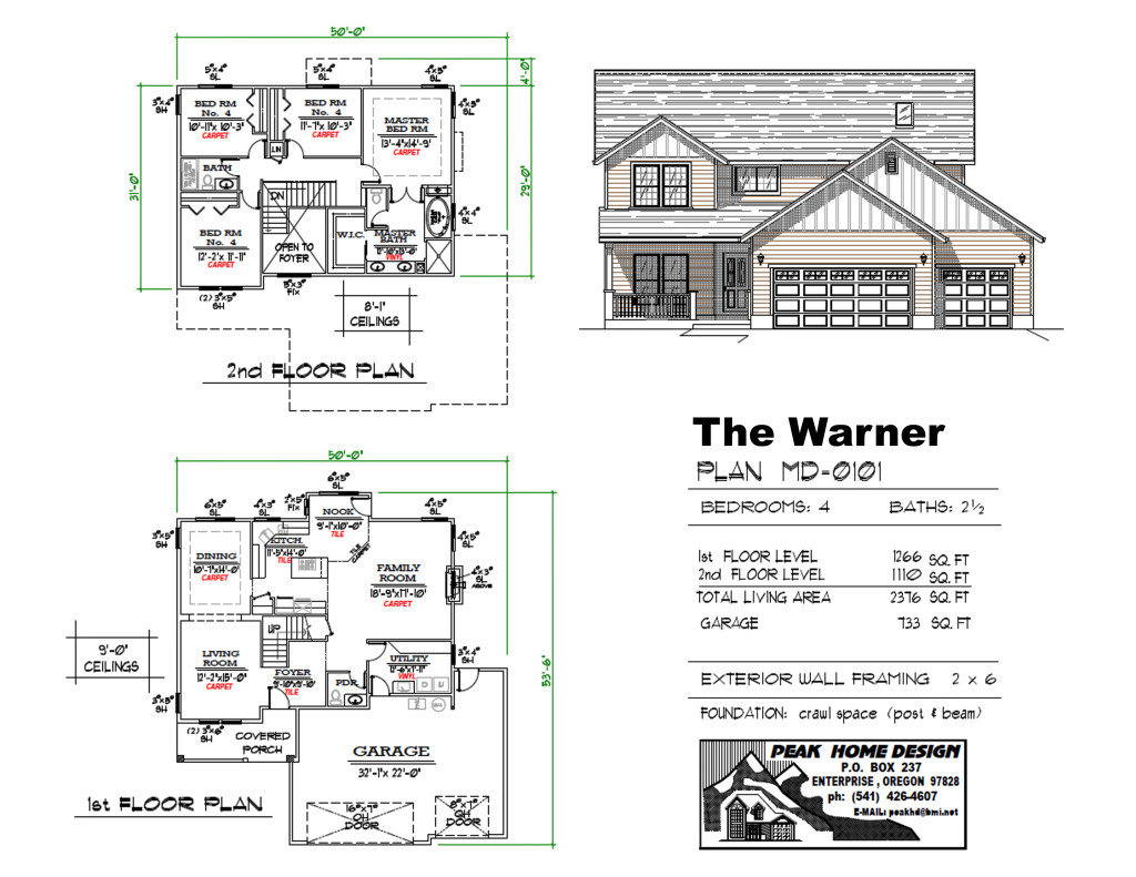 The Warner Oregon House Design MD0101