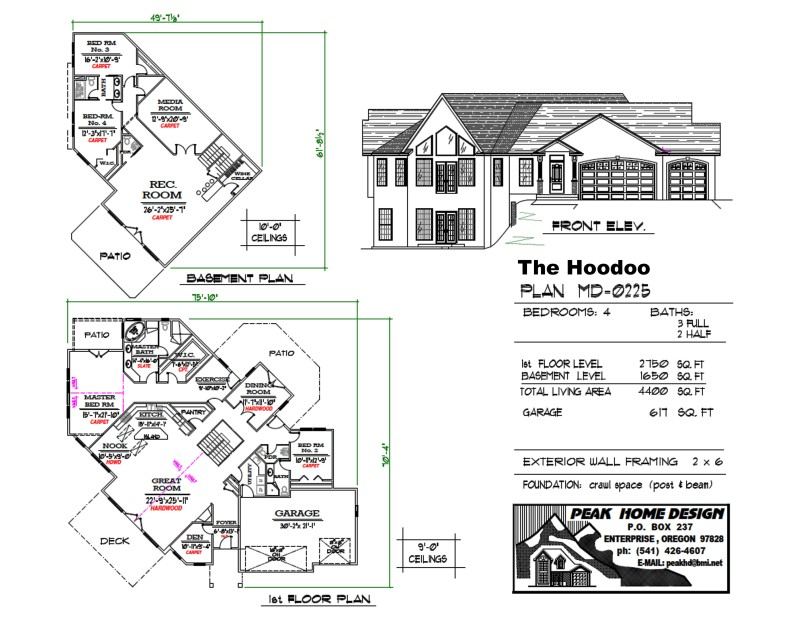 The Hoodoo Oregon Home Plan MD0225