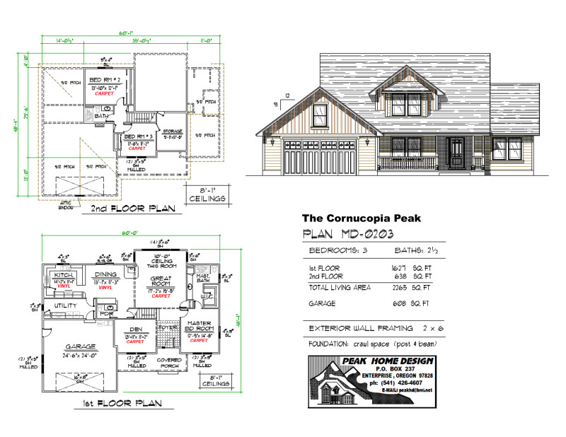 The Cornucopia Peak Oregon Home Plan MD0203